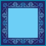Blue frame. Blue, navy and light blue frame pattern Royalty Free Stock Photo