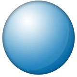 Blue orb. Against whithe background Stock Photos