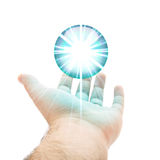 Blue Orb Hand Stock Photography