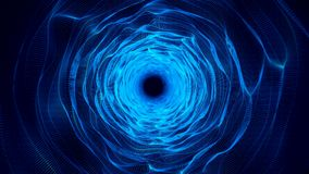 Blue Organic Wavy Tunnel Abstract Animation Background. Backdrop stock video
