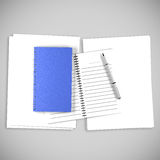 Blue Organize Book For write Royalty Free Stock Photos