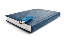 Blue organizer woth flash Royalty Free Stock Photography