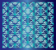 Blue oriental background. A blue background with oriental or floral design pattern Stock Images