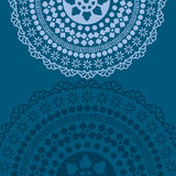Blue oriental mandala background Royalty Free Stock Image