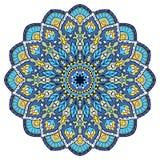 Blue oriental mandala. Royalty Free Stock Photos