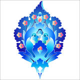 Blue oriental ottoman design forty six. Versions of Ottoman decorative arts, abstract flowers Stock Image