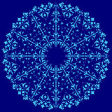 Blue oriental ottoman design thirty-four. Series of patterns designed by taking advantage of the former Ottoman royalty free illustration