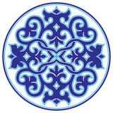 Blue oriental ottoman design twenty-three version. Series of patterns designed by taking advantage of the former Ottoman stock illustration