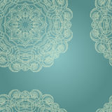 Blue oriental pattern Stock Photography