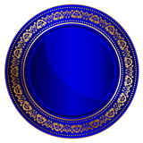 Blue oriental tray Stock Images