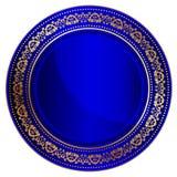 Blue oriental tray royalty free illustration