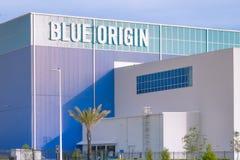 Blue Origin Vehicle Production Facility. Cape Canaveral, Florida - May 12, 2019: Blue Origin launch vehicle production facility, founded by Jeff Bezos, is royalty free stock photo