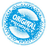 Blue Original product seal design Royalty Free Stock Images