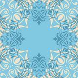 Blue Ornament Abstract Pattern Seamless. With Vintage Style Stock Photography