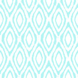 Blue ornament background. Vector hand drawn seamless pattern Royalty Free Stock Photos