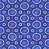 Blue ornament pattern Stock Photos