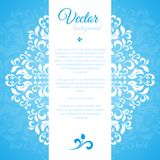 Blue ornament petal with space for text Royalty Free Stock Photo