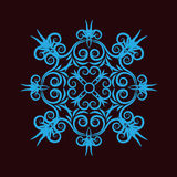 Blue ornament. Sophisticated decorative ornament with floral elements royalty free illustration