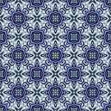 Blue ornament traditional Portuguese azulejos. Oriental seamless pattern Stock Photo
