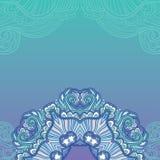 Blue ornamental background. Ornamental floral background. Floral mandala vector illustration