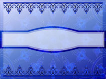Blue ornamental banner Stock Photography