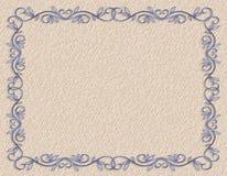 Blue ornamental Border  Royalty Free Stock Photos