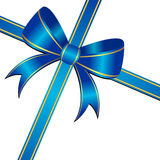 Blue ornamental bow Royalty Free Stock Photography