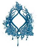 Blue ornamental design Royalty Free Stock Images