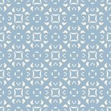 Blue Ornamental Floral Seamless Pattern. Geometric Background In Damask Style. Royalty Free Stock Image