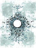 Blue ornamental  grunge design Stock Photo