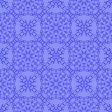 Blue Ornamental Seamless Line Pattern Stock Photos