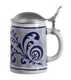 Blue ornamented stein Royalty Free Stock Photo