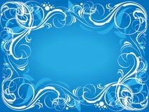 Blue ornate background Stock Photos