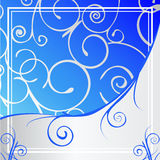 Blue Ornate Background. Blue & silver decorative background illustration Royalty Free Stock Images