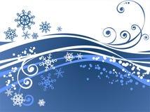 Blue ornate background Royalty Free Stock Photography