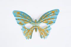 Blue ornate carnival mask Royalty Free Stock Photography