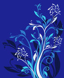 Blue ornate floral pattern Stock Photos