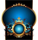Blue ornate frame Royalty Free Stock Photo