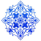 Blue ornate ornament Royalty Free Stock Photography
