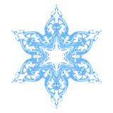 Blue ornate snowflake Stock Image