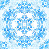 Blue ornate vector lacy seamless pattern Stock Images