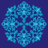 Blue ottoman serial patterns twenty-six. Blue series is designed using the old patterns anatolia vector illustration
