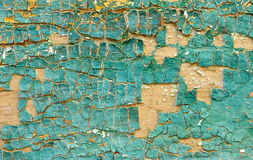 Blue outdated peeling paint Royalty Free Stock Photo