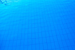 Blue outdoor poolside water surface as abstract background Stock Photo