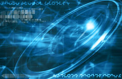Blue outer space background Stock Image