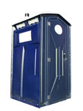 Blue Outhouse Stock Images