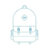 Blue outline backpack Royalty Free Stock Images
