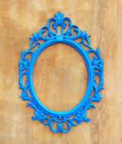 Blue oval vintage frame Royalty Free Stock Photography