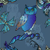Blue  owl Royalty Free Stock Image