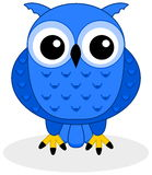 A blue owl Royalty Free Stock Image